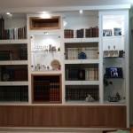 ספריית גבס בשילוב עץ וזכוכית