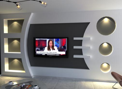 עיצוב מגבס לטלויזיה